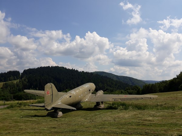 an old airplane from WWII, you'll pass ito n the trail