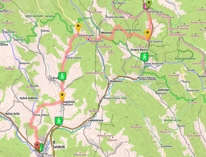 stage one of E8 in Slovakia, from Dukla to Svidnik