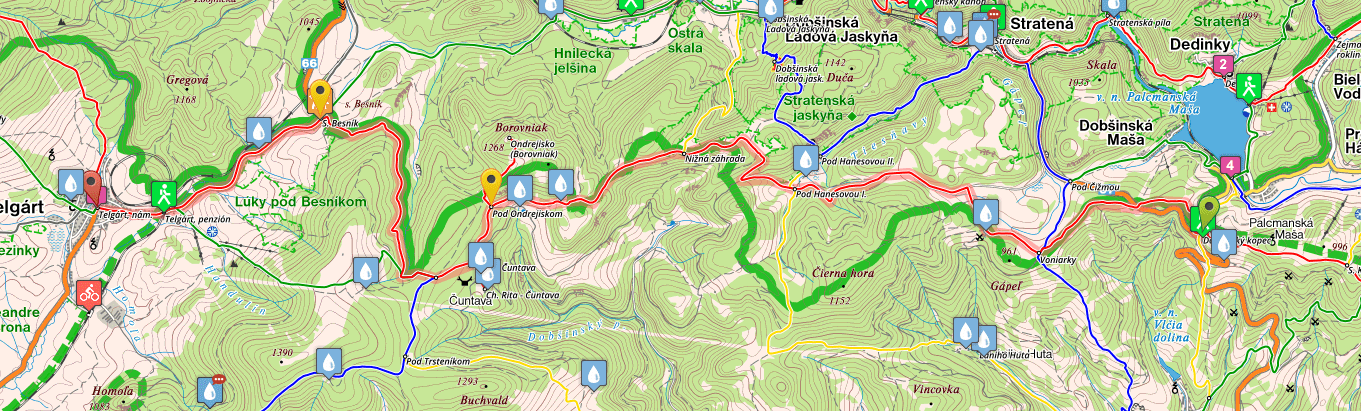 Map of stage 10, SNP Trail