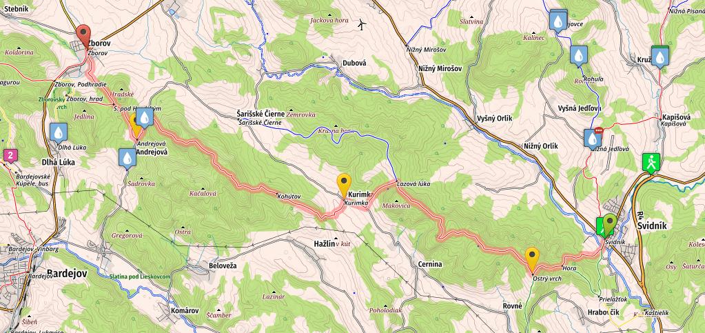 Stage 2 of SNP trail, Svidnik - Zborov