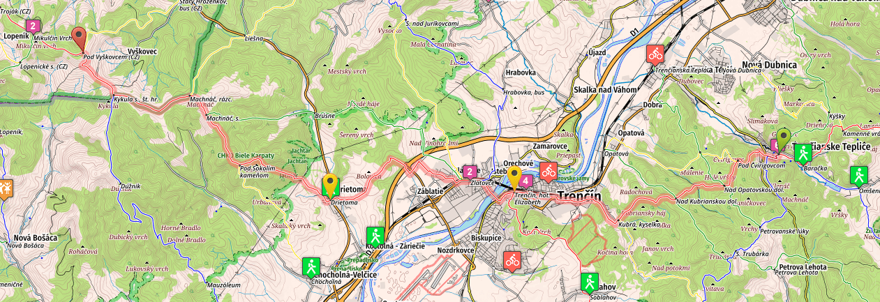 stage 21 of SNP trail (E8 in Slovakia) map
